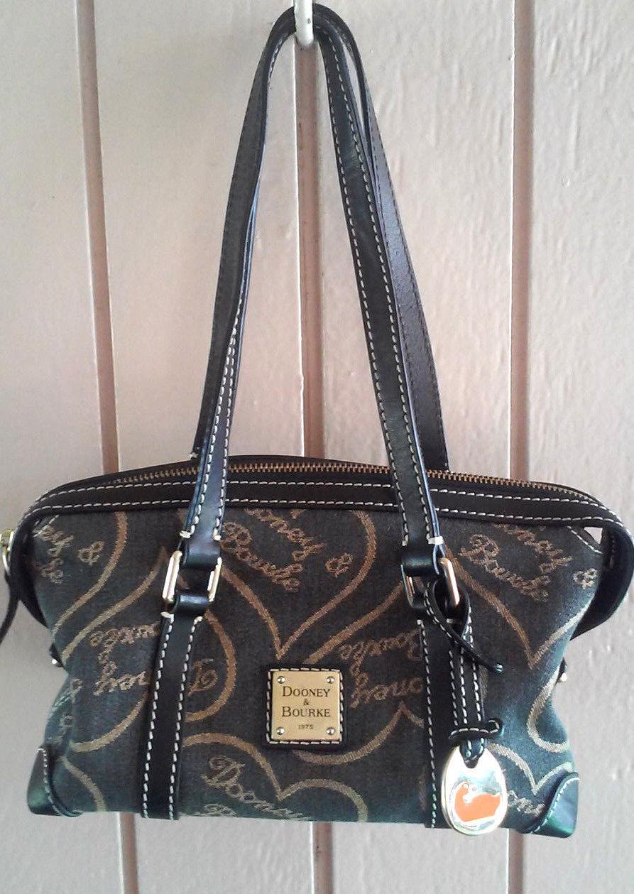 Dooney & Bourke Signature Fabric Large Hearts Handbag with Duck Hangtag - $36.10