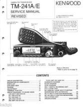 Kenwood TM-241 a/e Service Manual CDROM - $9.99