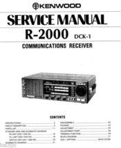 Kenwood R-2000 Service Manual CDROM - $9.99