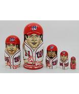 """Washington Nationals  nesting doll matryoshka doll babushka doll 5 pc, 6"""" - $59.90"""