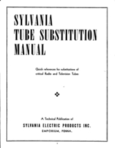 Sylvania Tube Substitution Manual on CD - $9.99