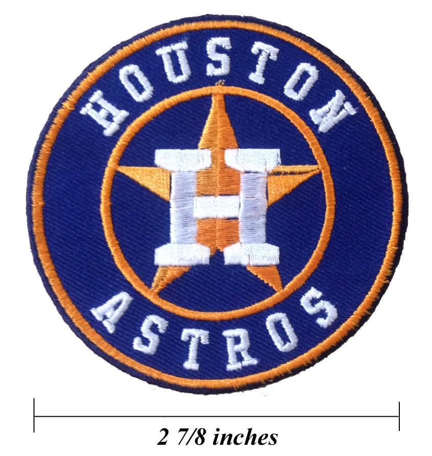 Houston Designer: Houston Astros Logo Embroidered Iron On Patches