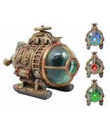 Ebros Vintage Design Holmes Nautilus Steampunk Submarine LED Night Light... - $63.35