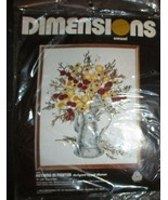 "Dimensions Crewel Kit Autumn In Pewter 16"" x 20"" #1002 NEW 1978 - $24.74"