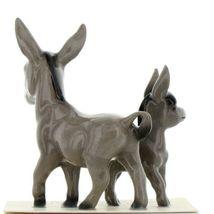Hagen Renaker Miniature Farm Burro Donkey Mama and Baby Ceramic Figurine Set image 5