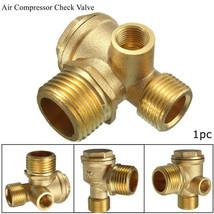 """Brass-3-Port-Central-Pneumatic-Air-Compressor-Check-Valve 1 3/4"""" x 1 3/16"""" - $12.33"""
