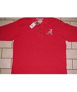 Alabama Crimson Tide Football Team Logo NCAA SEC Men's Red Golf Polo Shi... - $39.59