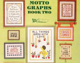 Cross Stitch Motto Graphs Bk. 2 Happiness No Wind? Kissin' - $4.95