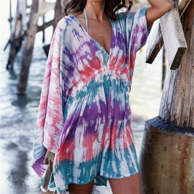 9c99385e6acc4 Bohemian Mixed Muticolored Beach Dress and 50 similar items