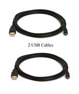 TWO 2 USB Cables DMW-USBC1 K1HY08YY0025 for Panasonic DMC-FZ60 FZ60K DMC... - $9.82