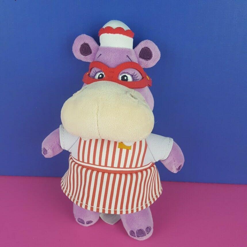 "Disney Store Doc McStuffins Hallie Hippo 8"" Plush Doll Stuffed Animal Purple"
