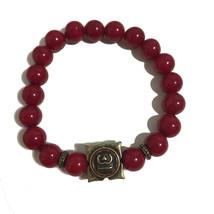 Red Beaded Charm Bracelet - $19.99