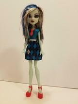 2008 Monster High Frankie Stein Black/White Blue Multi Color Hair w/Shoe... - $19.79