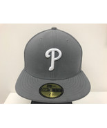 New Era 59Fifty 5950 MLB Philadelphia Phillies Storm Gray Fitted Cap  - $34.99