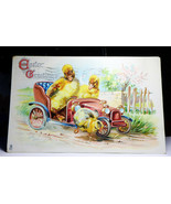 RT41 Tuck Easter Gladnes Postcard Series 715 Ducks Driving Car Posted 19... - $5.00