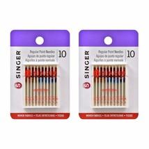 Singer Universal Regular Point Machine Needles, 20 Count, Sizes 80/11, 9... - $8.93