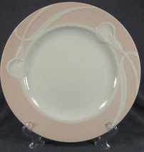 Mikasa Classic Flair Peach LDB01 Dinner Plate Embossed White Calla Lilies - $24.95