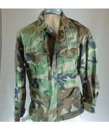 US AIR FORCE Mens Green CAMOUFLAGE JACKET Field Fatigue Size Medium regular - $29.68
