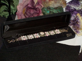 QVC CAROLYN POLLACK RELIOS Sterling Silver Coral Pink MOP Pearl Bracelet... - $118.79