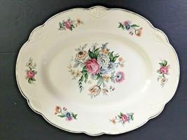 "Vintage Homer Laughlin L50N8 9"" X 11.5"" Platter Virginia Rose Usa   - $26.72"