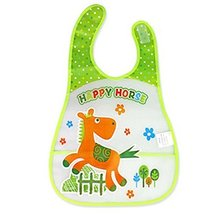 2 Pcs Durable Running Horse Showerproof Comfortable Baby Bib/Baby Apron