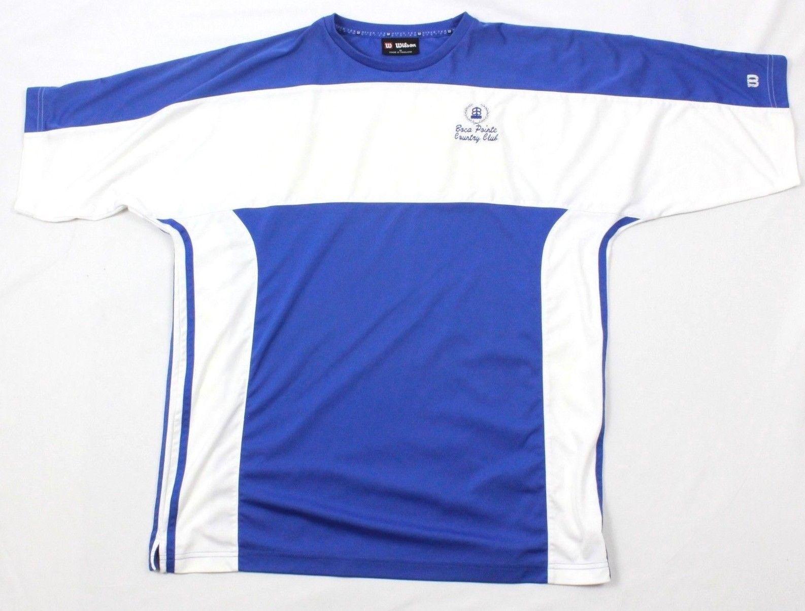 Wilson Hyper Tek Golf T-Shirt Adulte M Surdimensionné Coupe Ample Boca Point