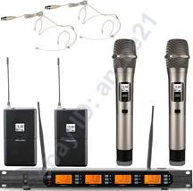 High-Class UHF Wireless Microphone System 2 Beige Headset 2 Dynamic Hand... - $440.55