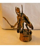 "LFL Star Wars chess piece Gold Plastic GEONOSIAN WARRIOR 9cm 3.5"" IN 2002  - $7.91"