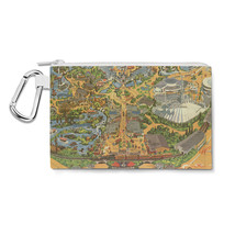 Disneyland Vintage Map Canvas Zip Pouch - $15.99+