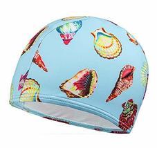 PANDA SUPERSTORE Kids Elastic Swimming Cap Cloth Febric Swim Caps Blue S... - $14.54