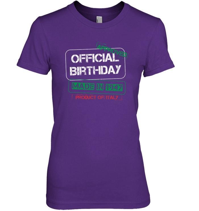 Italian Birthday Shirt Made In 1947 Born In Italy image 3