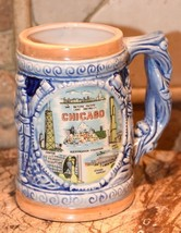 CHICAGO BEER STEIN VINTAGE SOUVENIR JAPAN PICASSO HANCOCK SEARS O'HARE 4... - $29.99