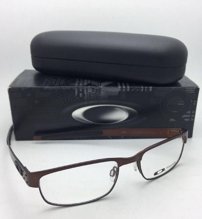 3efee02511 New OAKLEY Titanium Eyeglasses METAL PLATE 22-201 53-18 140 Dark Brown  Frames