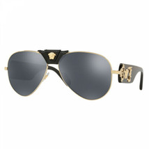 New Authentic Versace VE2150Q - Gold/Grey Mirror - $165.62