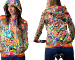 Psychedelic female face trippy tongue dmt hoodie women thumb155 crop