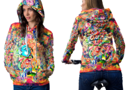 Psychedelic Female Face Trippy Tongue DMT Hoodie Women - $44.99
