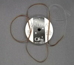 (4) Offray Galena Brown Metallic 3/8 x5yd craft,wreath,basket,wedding bo... - $2.27