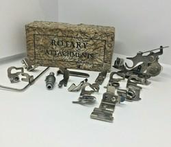 Greist Sewing Machine Attachments Hemmer Ruffler Edge Stitcher 14 Parts ... - $13.55