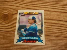 1989 Topps Ames Jesse Barfield 20/20 Club Baseball Card #1 Toronto Blue ... - $0.99
