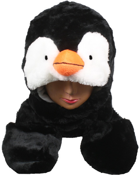 Case of [24] Penguin Animal Winter Hat - Mittens