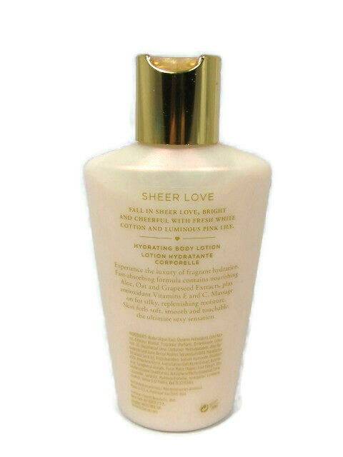 Victoria's Secret Sheer Love White Cotton Pink Lily Hydrating Body Lotion 4.2 Oz image 3