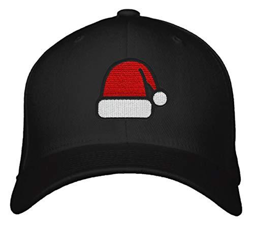 Santa Hat Black Adjustable Snapback Cap
