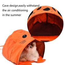 Pet Cat Toys Cute Mouse Tunnels Orange Color Tent Easy House For Small Dog Beds image 3