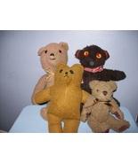 Vintage Stuffed Bears- Lot of 4 - $7.50