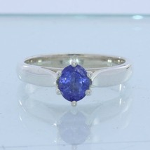 Blue Tanzanite Gemstone Handmade Sterling 925 Silver Ladies Ring size 6.75 - £48.68 GBP