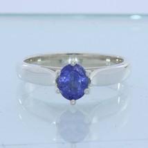 Blue Tanzanite Gemstone Handmade Sterling 925 Silver Ladies Ring size 6.75 - £49.07 GBP