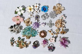Heart Fan Star Brooches Pins Jewelry Lot - $29.66