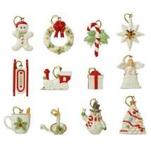 Lenox Winter Delights Miniature Tree 12 Ornaments Set Angel Train Christ... - $400.00