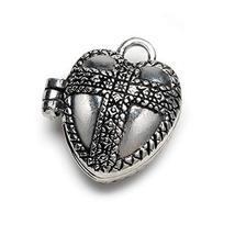 Bulk Buy: Darice DIY Crafts Charm Prayer Box Heart with Cross Antiqued S... - $11.69