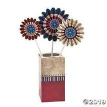 Cardboard Pinwheel Americana Table Top Centerpiece Patriotic Decor Red W... - $7.74